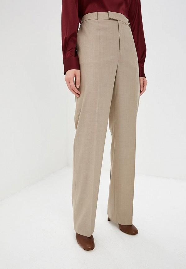 женские классические брюки boss, бежевые