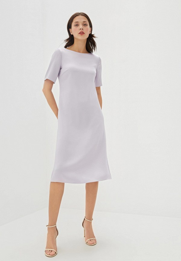 женское повседневные платье hugo boss, фиолетовое
