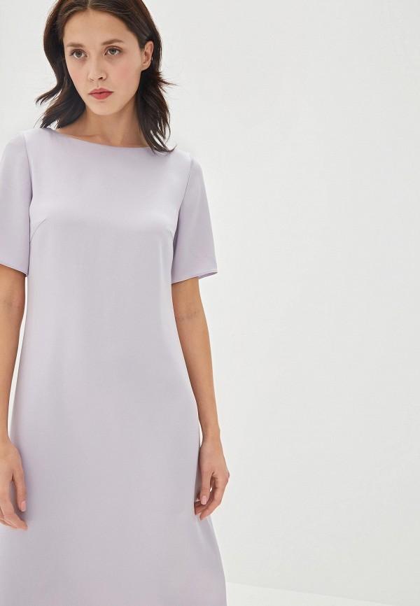 Фото 2 - женское повседневное платье Boss фиолетового цвета