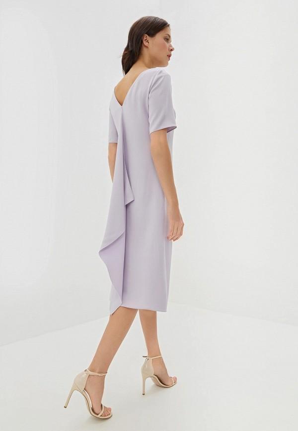 Фото 3 - женское повседневное платье Boss фиолетового цвета