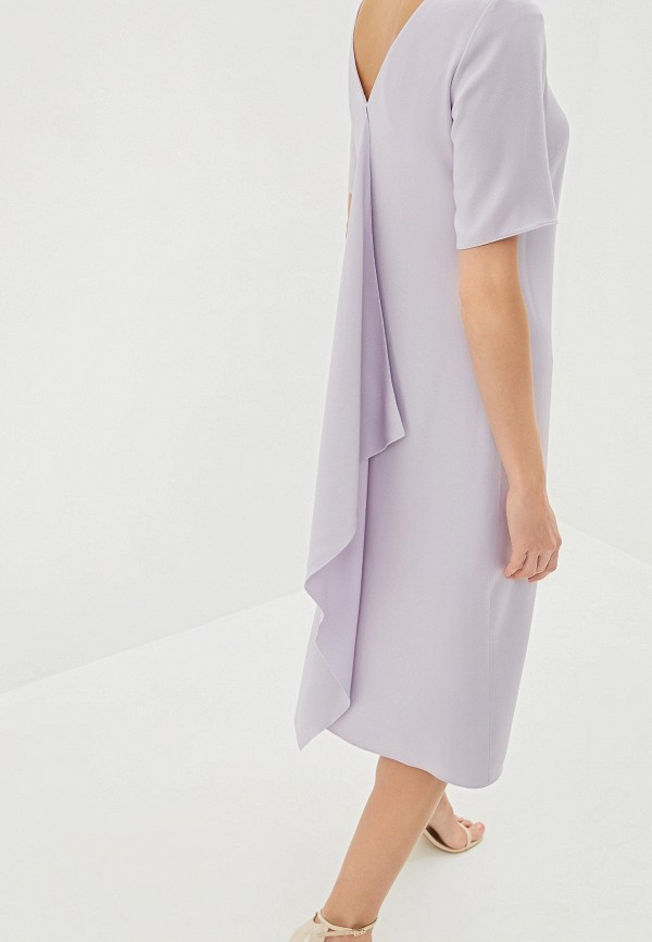 Фото 4 - женское повседневное платье Boss фиолетового цвета