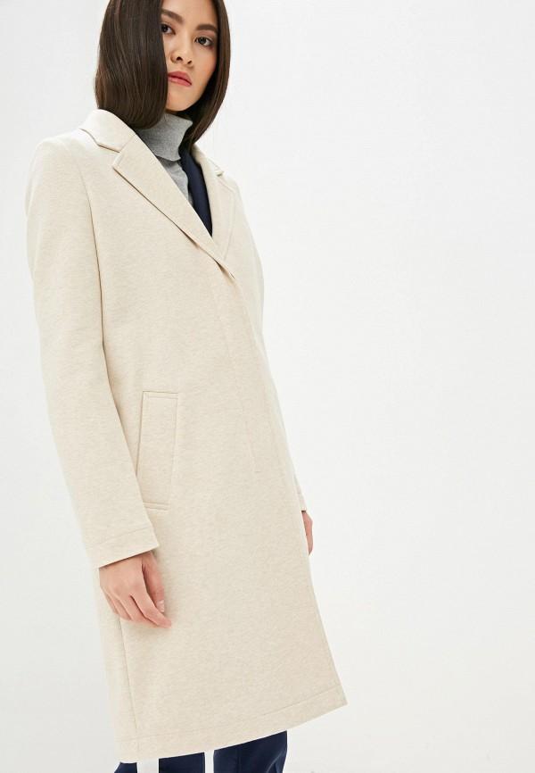 женское пальто boss, бежевое