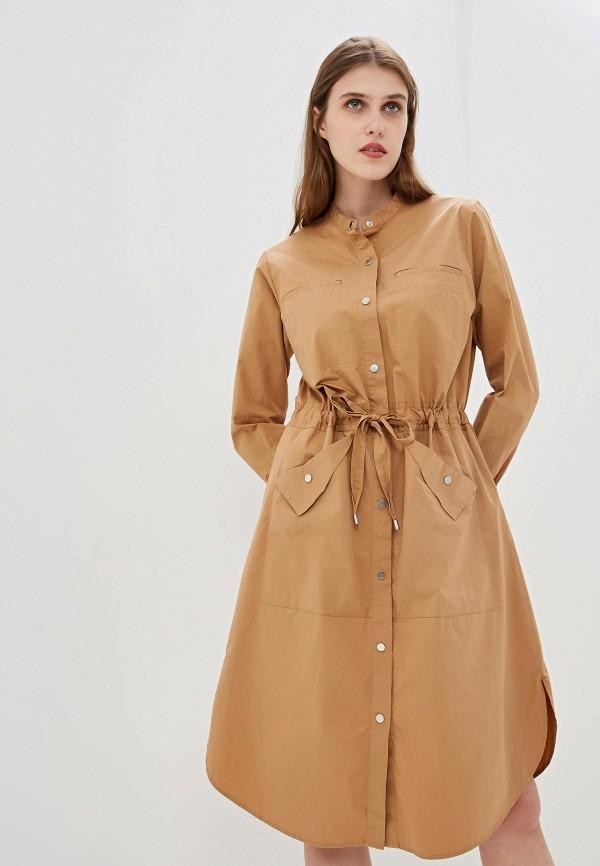 женское платье boss, коричневое
