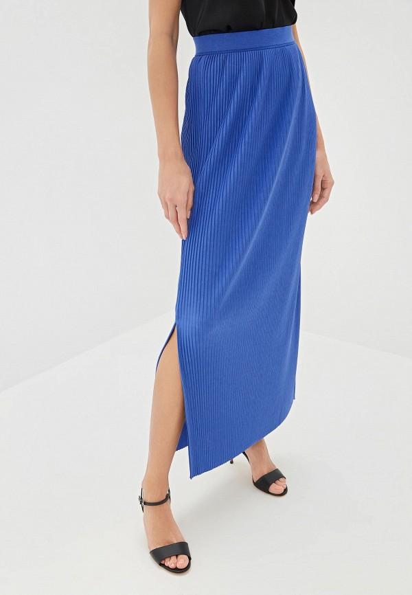 женская юбка hugo boss, синяя