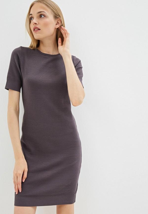 женское повседневные платье hugo boss, серое