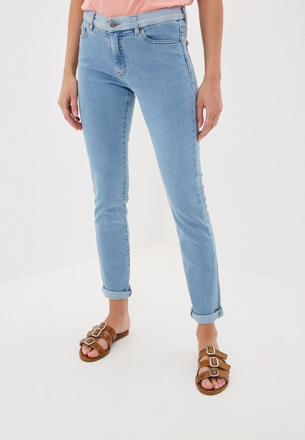 Фото 5 - женские джинсы Boss голубого цвета