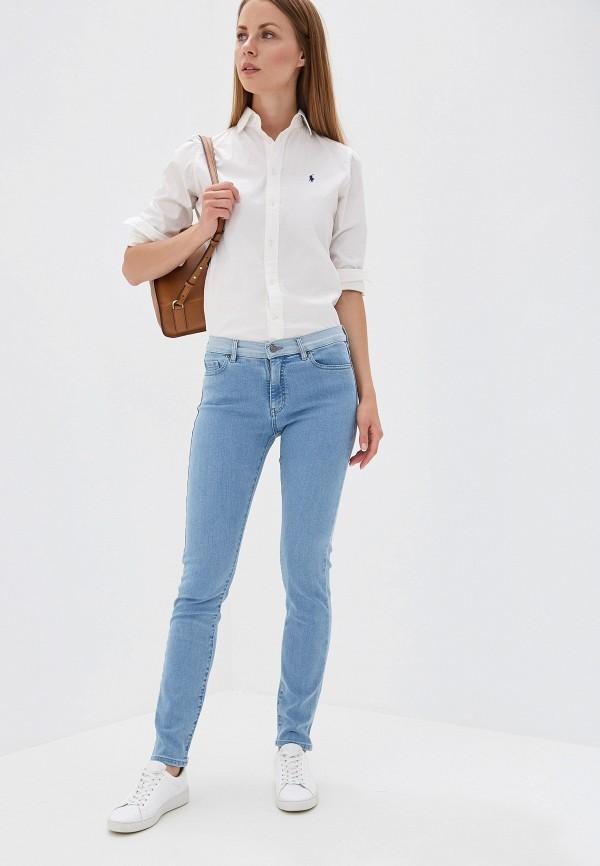 Фото 2 - женские джинсы Boss голубого цвета