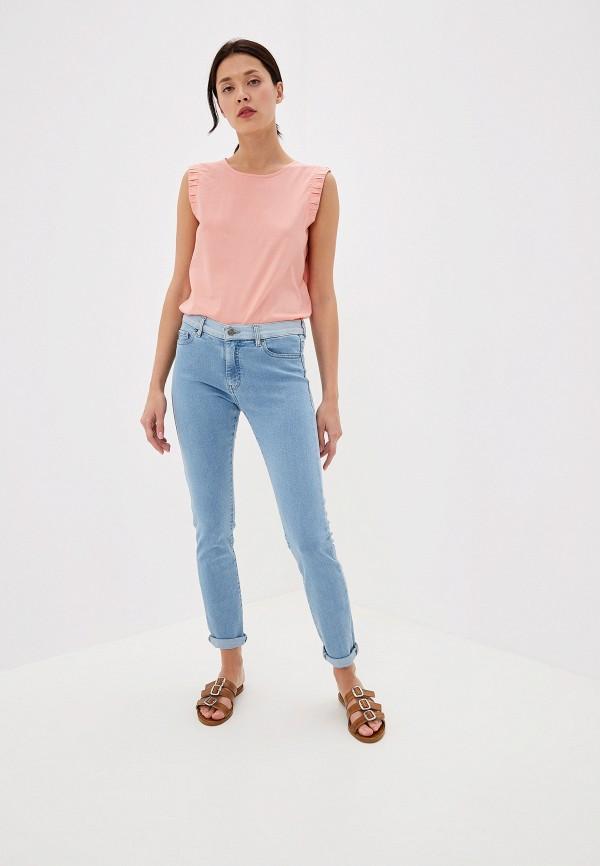 Фото 6 - женские джинсы Boss голубого цвета