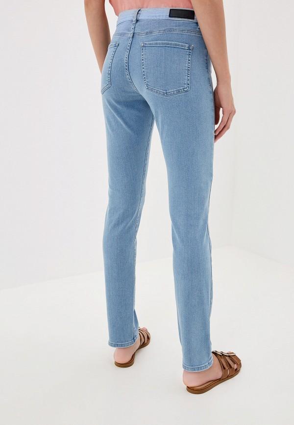 Фото 7 - женские джинсы Boss голубого цвета
