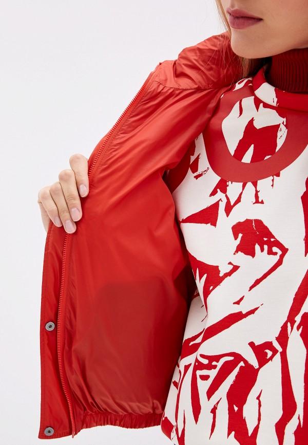 Фото 5 - Пуховик Boss красного цвета