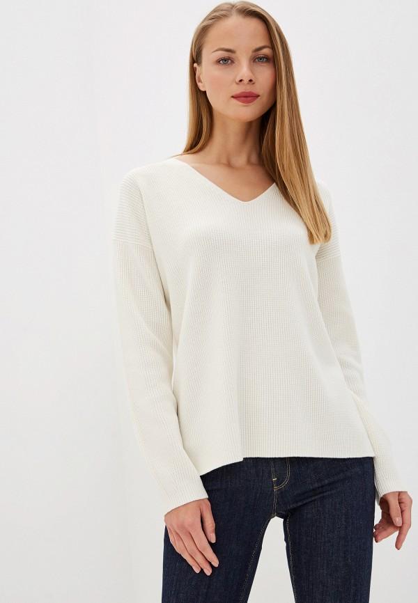 женский пуловер hugo boss, белый