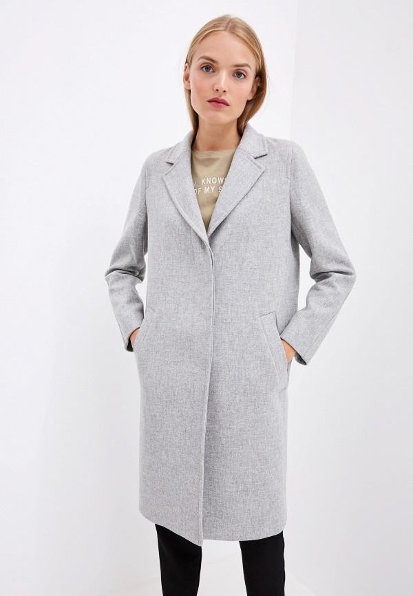женское пальто boss, серое