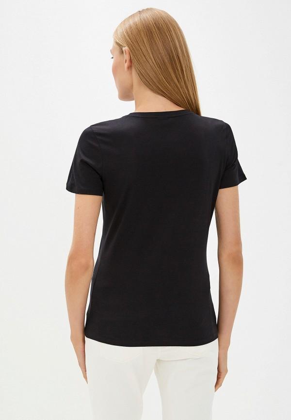 Фото 3 - женскую футболку Boss черного цвета