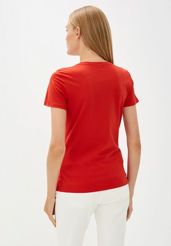 Фото 3 - женскую футболку Boss Hugo Boss красного цвета