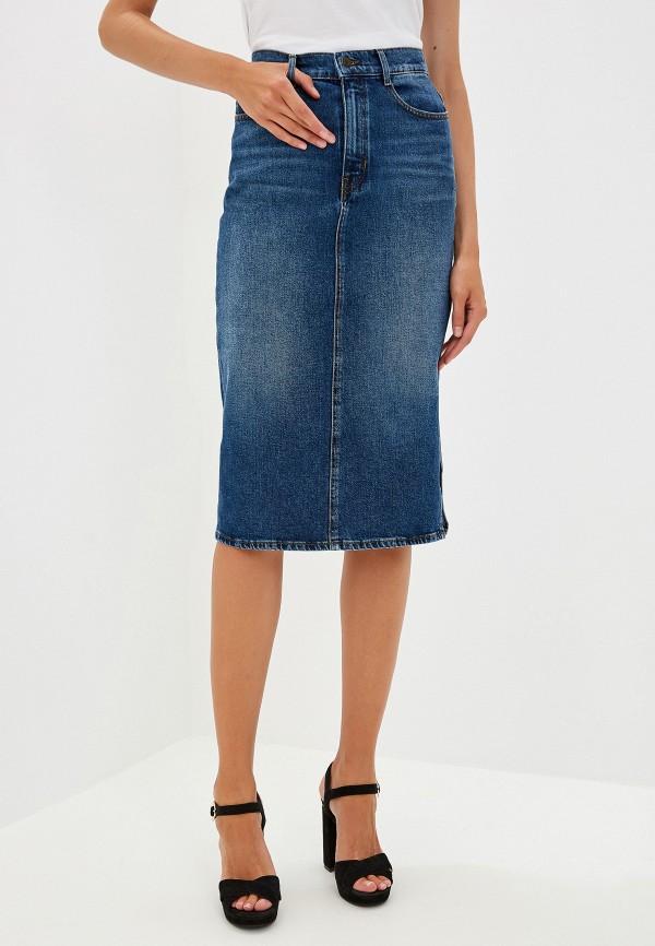 Фото - Юбку джинсовая Boss Hugo Boss синего цвета