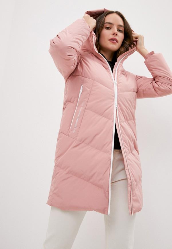 женский пуховик bosideng, розовый