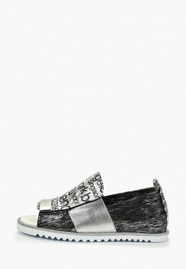 женские сандалии bona dea, серебряные