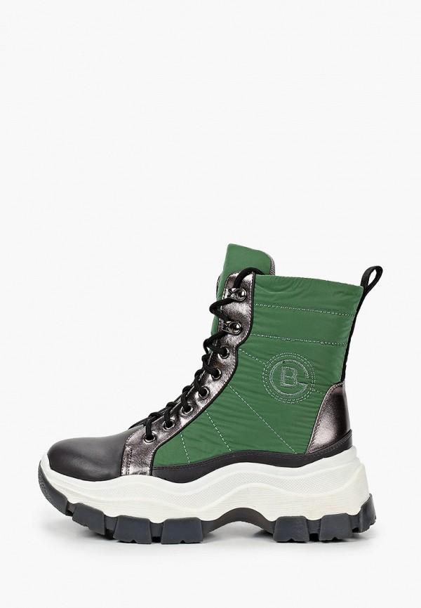 женские ботинки bona dea, зеленые