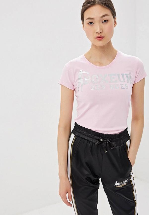 женская спортивные футболка boxeur des rues, розовая