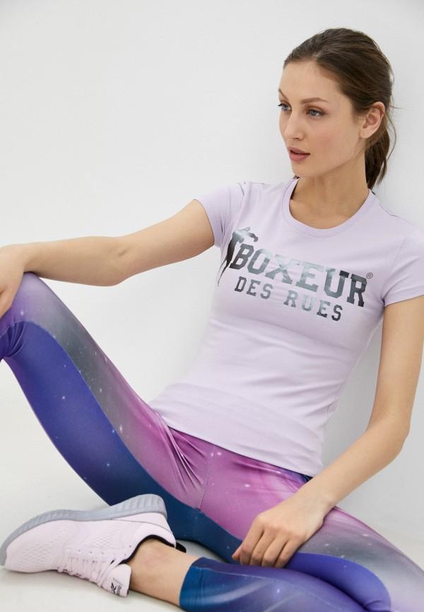 женская спортивные футболка boxeur des rues, фиолетовая