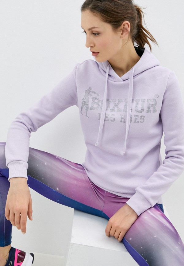 женские худи boxeur des rues, фиолетовые