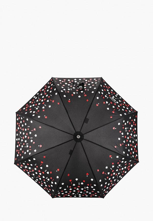 женский зонт boutique moschino, черный