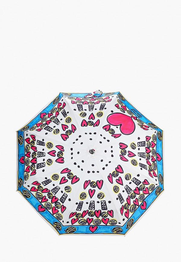 женский зонт boutique moschino, белый