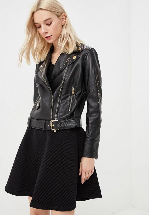 Куртка кожаная Boutique Moschino Boutique Moschino BO036EWBVWK0 moschino куртка