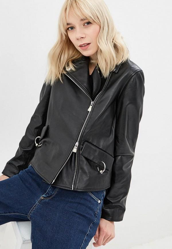Куртка кожаная Boutique Moschino Boutique Moschino BO036EWDREA5
