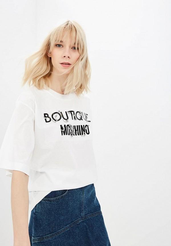 женская футболка boutique moschino, белая