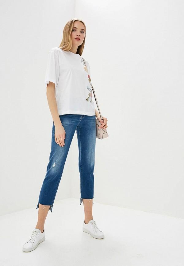Фото 2 - женскую футболку Boutique Moschino белого цвета