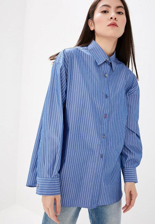 женская рубашка с длинным рукавом boutique moschino, синяя