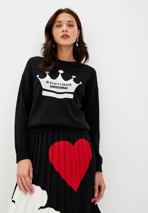 женский джемпер boutique moschino, черный
