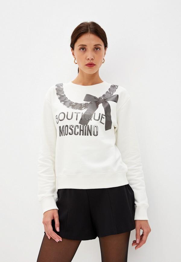 женский свитшот boutique moschino, белый