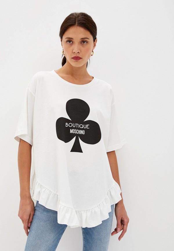 цена Футболка Boutique Moschino Boutique Moschino BO036EWFTRH8 в интернет-магазинах