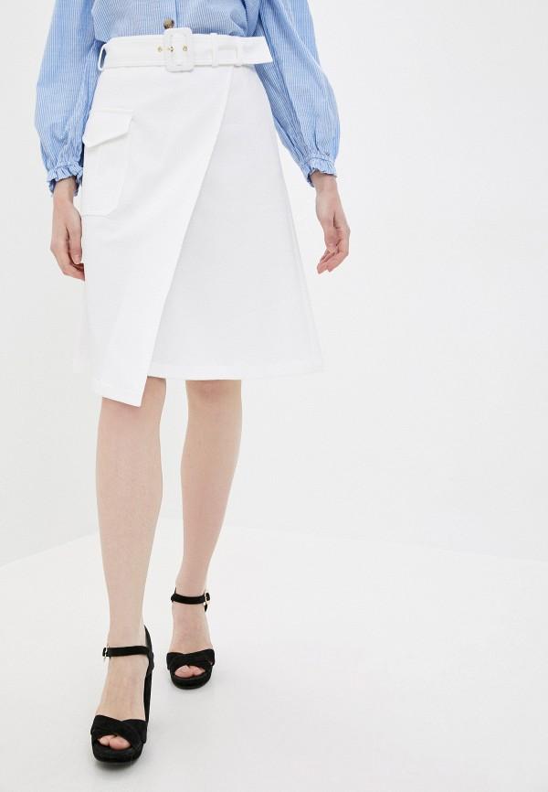 женская юбка boutique moschino, белая
