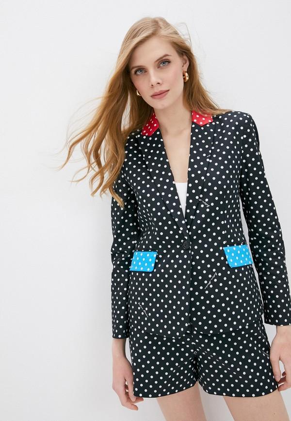 женский пиджак boutique moschino, черный