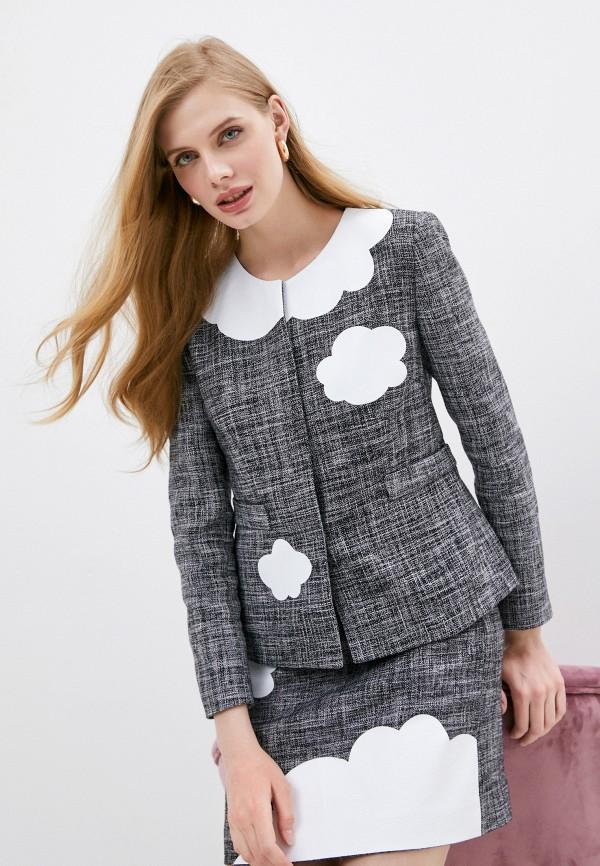 женский пиджак boutique moschino, серый