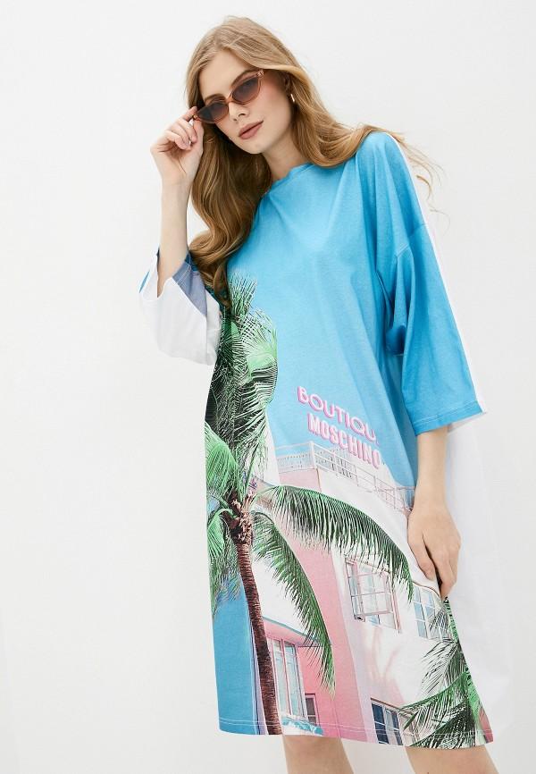 женское повседневные платье boutique moschino, разноцветное