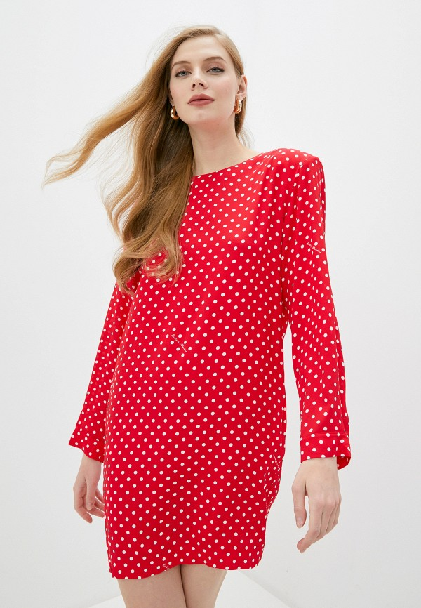 женское повседневные платье boutique moschino, красное