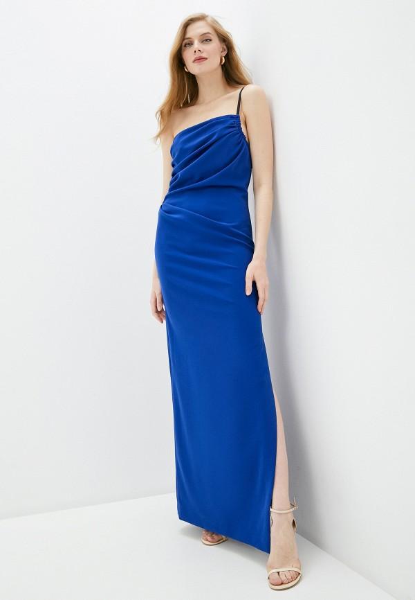 женское вечерние платье boutique moschino, синее