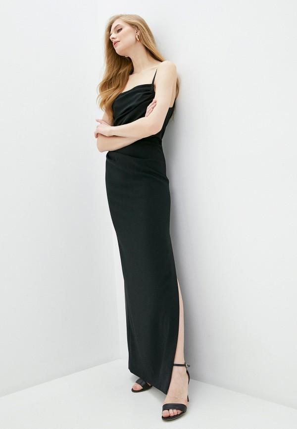 женское вечерние платье boutique moschino, черное