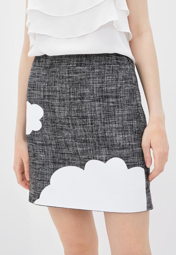 женская прямые юбка boutique moschino, серая
