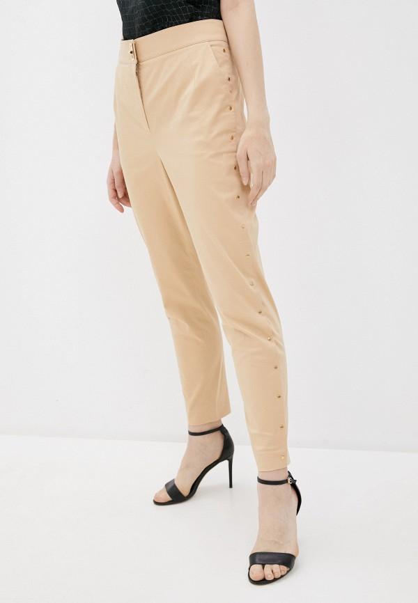 женские повседневные брюки boutique moschino, бежевые