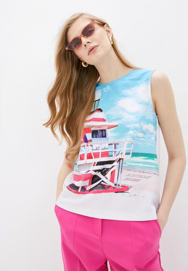 женская блузка boutique moschino, белая