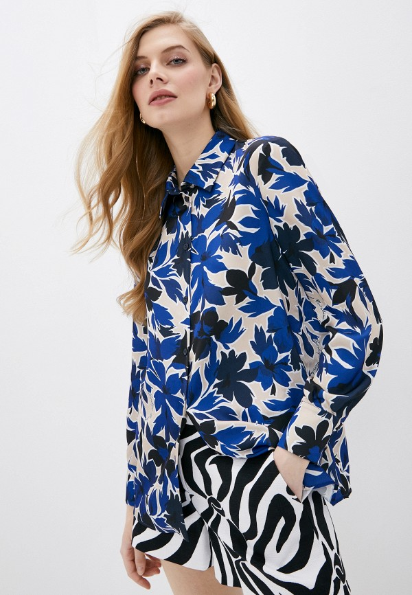 женская блузка boutique moschino, синяя