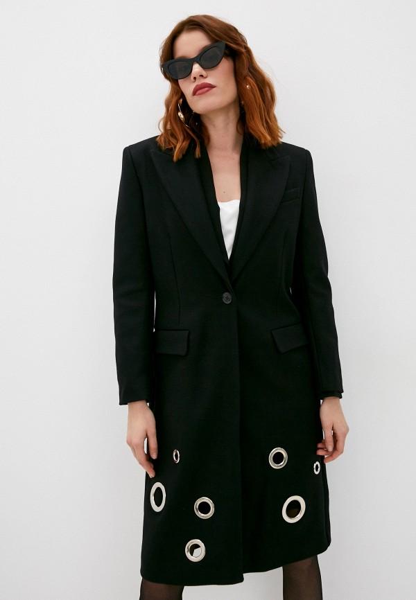 женское пальто boutique moschino, черное