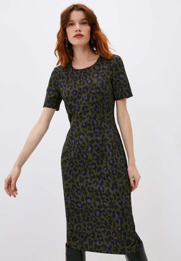 женское платье-футляр boutique moschino, хаки