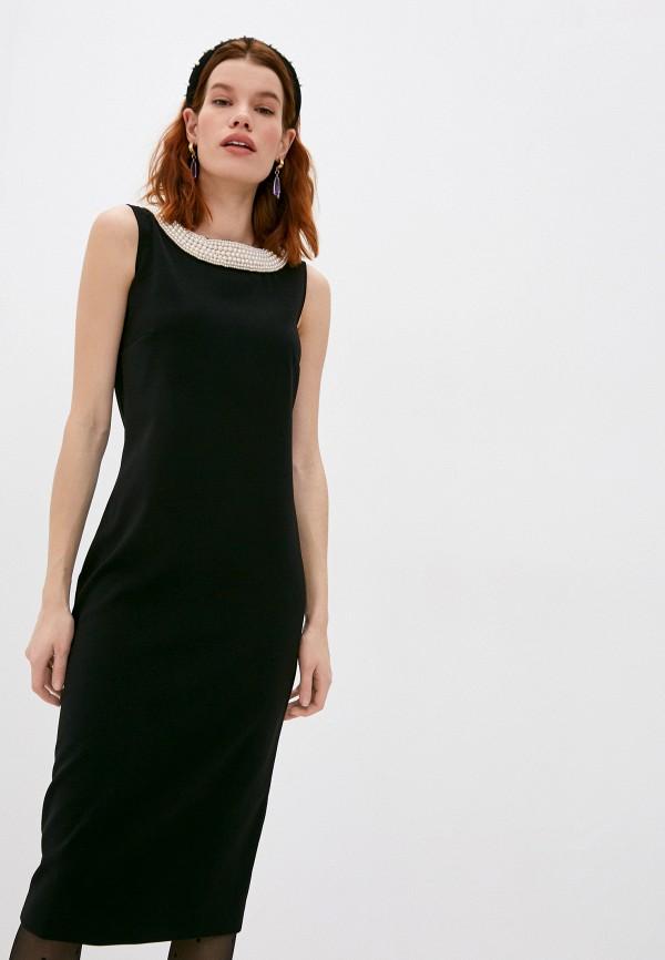 женское платье-футляр boutique moschino, черное
