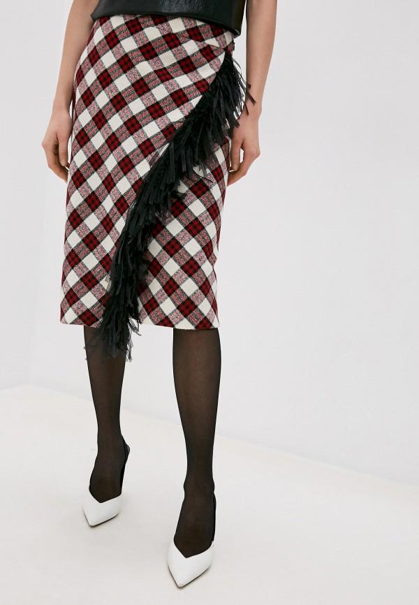 женская прямые юбка boutique moschino, красная